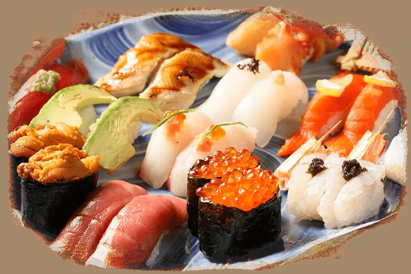 たくさんの寿司の写真
